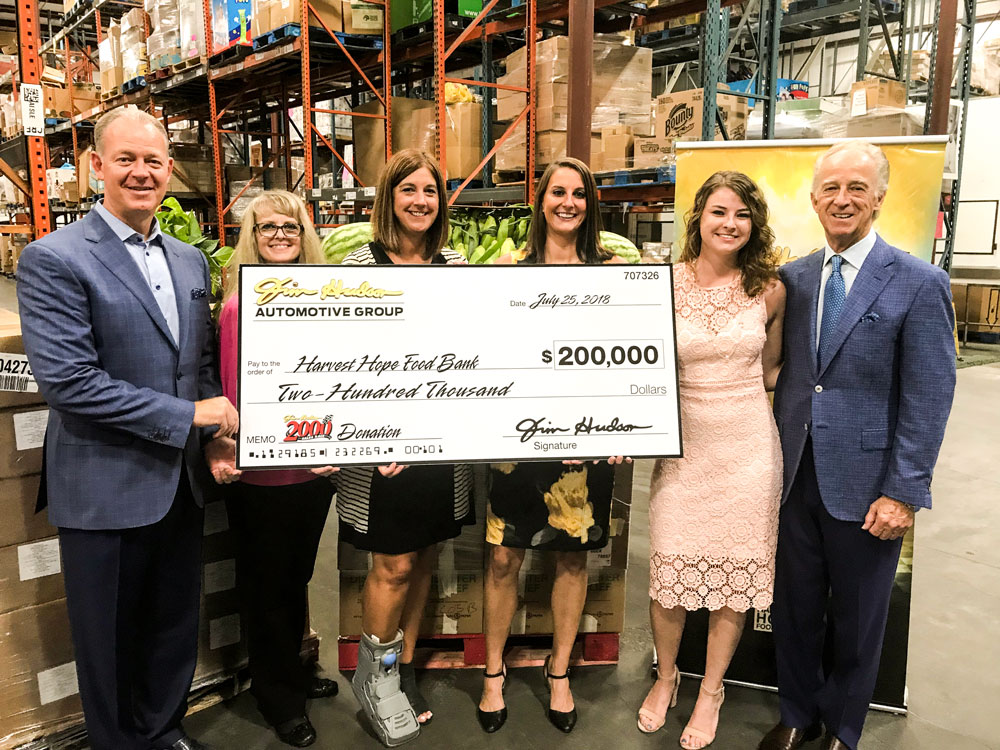 Harvest Hope Food Bank check